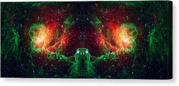 Lagoon Nebula Reflection Canvas Print by Jennifer Rondinelli Reilly - Fine Art Photography