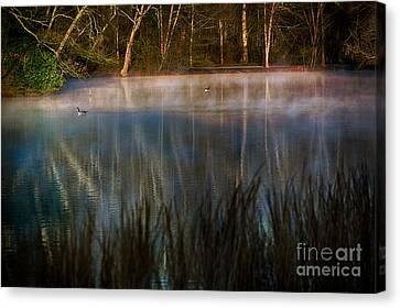 Lagoon Sunrise Canvas Print by Doug Sturgess