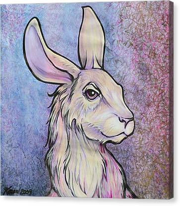 Lagos The Noble Hare Canvas Print by Karon Melillo DeVega