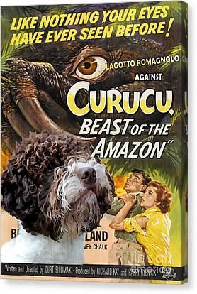 Lagotto Romagnolo Art Canvas Print - Curucu Movie Poster Canvas Print