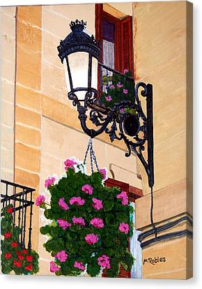 Laguardia Street Lamp  Canvas Print by Mike Robles