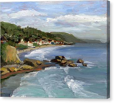 Commissions Canvas Print - Laguna Beach by Alice Leggett