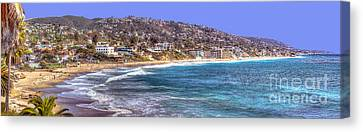 Laguna Beach Coast Panoramic Canvas Print
