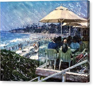Laguna Beach Hotel Afternoon Canvas Print