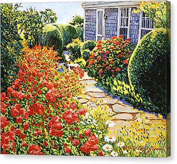 Laguna Beach House Garden Canvas Print by David Lloyd Glover