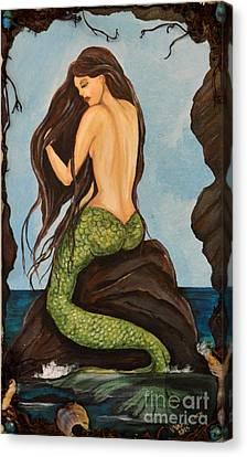 Laguna Beach Mermaid Marina Canvas Print by Valarie Pacheco