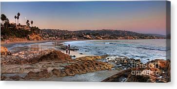 Laguna Beach Panorama Canvas Print by Eddie Yerkish