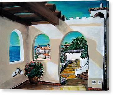 Laguna Beach Sun Patio Canvas Print by Mitchell McClenney