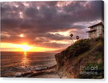 Laguna Beach Sunset Canvas Print by Eddie Yerkish