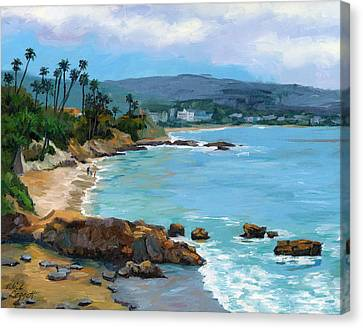 Laguna Beach Winter Canvas Print by Alice Leggett