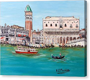 Canvas Print featuring the painting Laguna by Loredana Messina