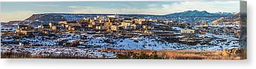 Winter Afternoon Laguna Pueblo - Native American Pueblo Photograph Canvas Print by Duane Miller