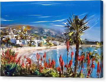 Laguna Sparkle Canvas Print by Russell Pierce