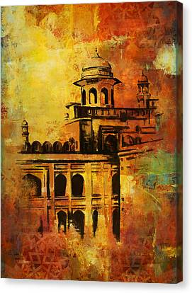 Tomb Canvas Print - Lahore Fort by Catf