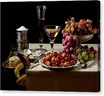 Laid Table - Ointbijt Canvas Print by Levin Rodriguez