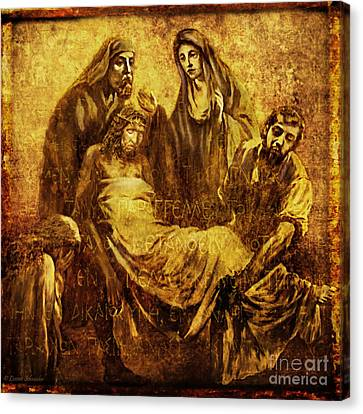 Laid_in_the_tomb Via Dolorosa 14 Canvas Print by Lianne Schneider