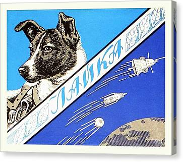 Laika Space Dog Commemorative Packaging Canvas Print