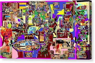 Lail Haseder 4 Bais Canvas Print by David Baruch Wolk