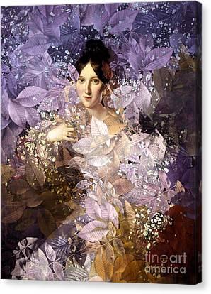 Laila - Des Femmes Et Des Fleurs Canvas Print by Aimelle