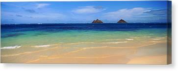 Lainki Beach, Oahu, Hawaii, Usa Canvas Print