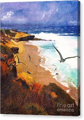 Lajolla Afternoon Canvas Print by Lianne Schneider