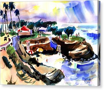 Lajolla Cove Canvas Print by John Dunn
