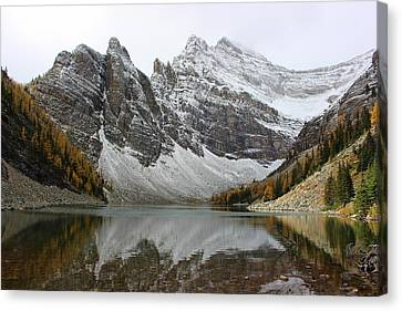 Canvas Print featuring the photograph Lake Agnes by Ramona Johnston
