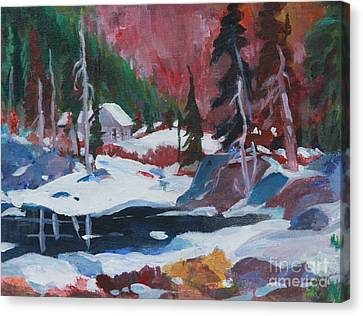 Lake Algonquin Park  Revisited Canvas Print by Sherrill McCall