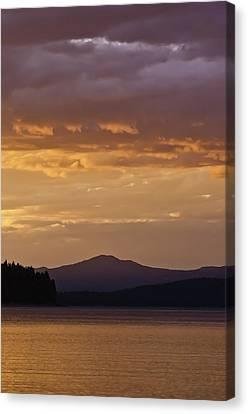 Lake Almanor Sunset Canvas Print by Sherri Meyer