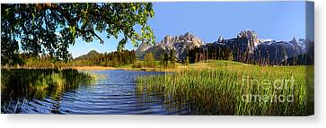 Lake And Mountains Panorama Canvas Print