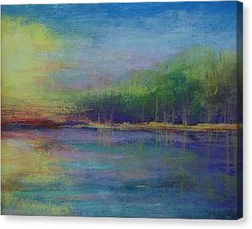 Lake At Sundown Canvas Print