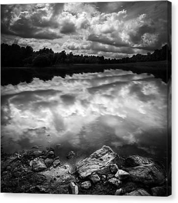 Lake Auburn Twilight Canvas Print by Bob Orsillo