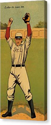 Lake Baseball Card Canvas Print by David Letts