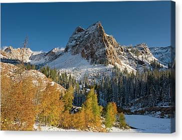 Lake Blanche Trail And Sundial Peak Canvas Print