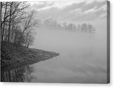 Lake Chatuge Lost In Fog Canvas Print