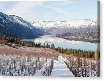 Lake Chelan Canvas Print - Lake Chelan In Winter by Alexander Fedin