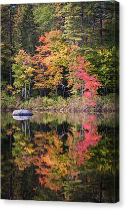 Lake Chocorua Moment Of Reflection Canvas Print