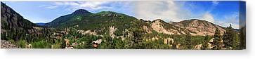 Lake City Colorado Mountain Range Canvas Print