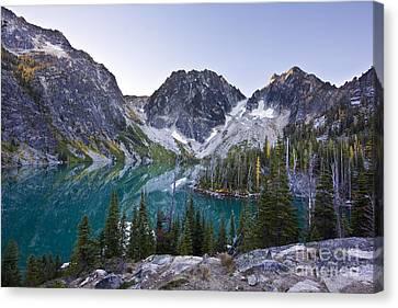 Lake Colchuck Sunrise Canvas Print by Mike Reid