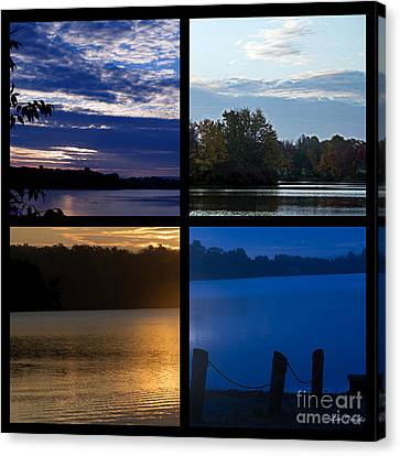 Lake Collage Canvas Print by Linda Troski