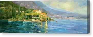 Lake Como Canvas Print by Allayn Stevens