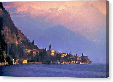 Canvas Print featuring the painting Lake Como Italy by Douglas MooreZart