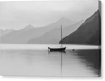 Lake Como Canvas Print by Tony Murray