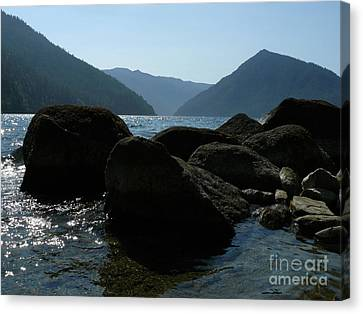 Canvas Print featuring the photograph Lake Crescent by Jane Ford