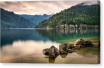 Lake Crescent Zen Canvas Print by Dan Mihai