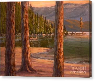 Lake Cruise Canvas Print