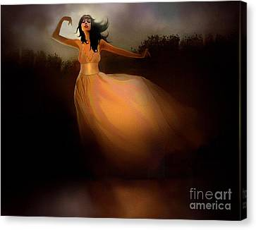 Lake Dancer Canvas Print by Robert Foster