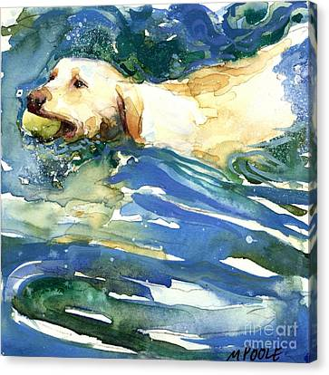 Labradors Canvas Print - Lake Effect by Molly Poole