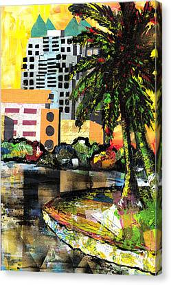 Lake Eola - Part 3 Of 3 Canvas Print by Everett Spruill