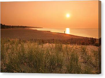 Lake Erie Sunset Canvas Print by Garry McMichael